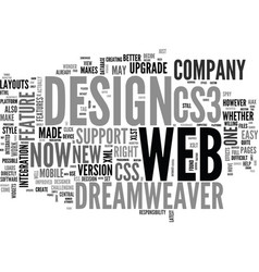 web design series dreamweaver and cs what s the vector image vector image