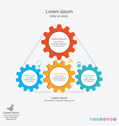 abstract infographics template with gears vector image