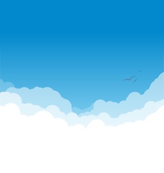 Clouds layers on blue copy vector image vector image