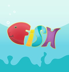 Fish Cartoon Logo Symbol Font vector image vector image