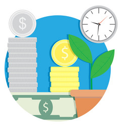 growth finance capital icon vector image