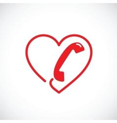 Helpline or phone sex abstract symbol icon vector image