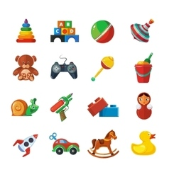 Toys icons for kids isolate on white background vector image vector image
