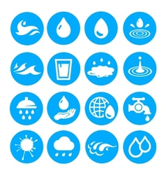 Water drop shapes collection icon set vector image