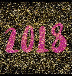 2018 sign on black background vector image