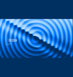 3d wavy background with ripple effect water vector