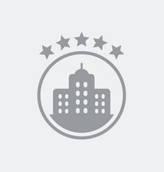 5 stars luxury hotel icon vector image