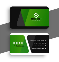 abstract green business card design professional vector image