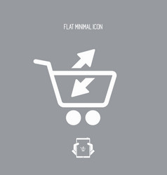 Add or remove shop product from the cart vector
