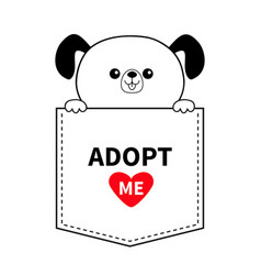 adopt me dog in pocket holding hands red vector image