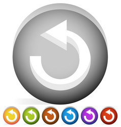 Arrow following a circle path rotating circular vector