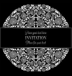 Baroque background with antique luxury silver and vector