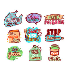 big set labels and badges with doodle hand vector image