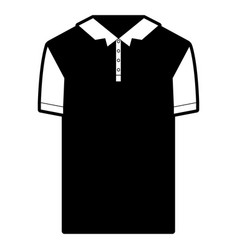 Black sections silhouette of polo shirt short vector