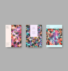 bright abstract cover designs for brochure vector image