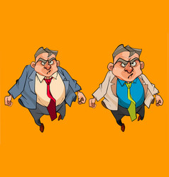 cartoon angry man in a suit with tie vector image