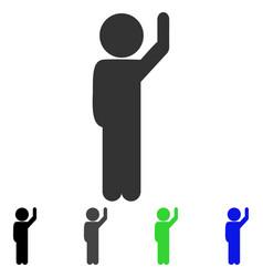 Child hello flat icon vector