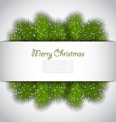Christmas Framework with Green Fir Brnches vector