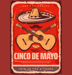 cinco de mayo mexican sketch party poster vector image