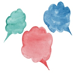 cloud colorful watercolor conversations for differ vector image vector image