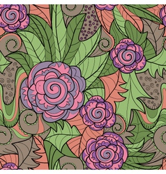 Color floral pattern vector