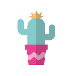 cute cactus in pot vector image