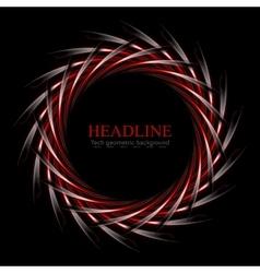 Dark red and black concept round logo design vector image
