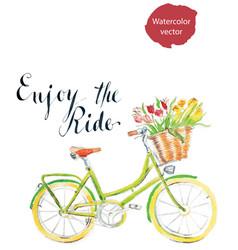 enjoy ride vector image