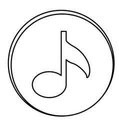 figure music emblem icon vector image