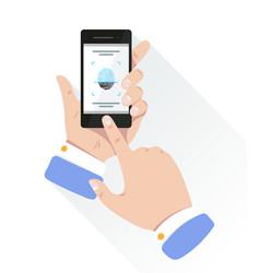 fingerprint for personal identification for unlock vector image