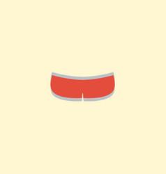 flat icon underwear element vector image