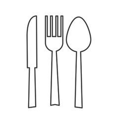 Fork spoon knife silhouette icon vector