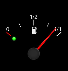 Fuel gauge black full tank vector