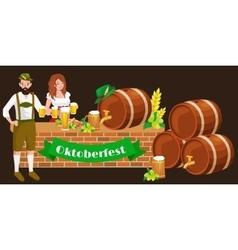 Germany beer festival oktoberfest bavarian beer vector