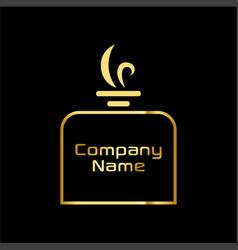 gold perfume logo vector image