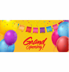 grand opening ceremony with colorful balloons vector image