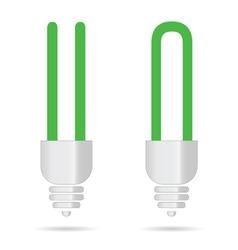 green bulb vector image