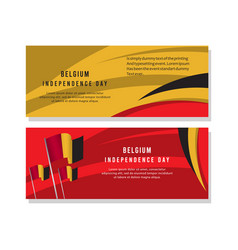 Happy belgium independence day celebration poster vector