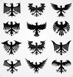 Heraldic Eagle Silhouettes vector