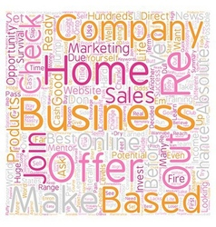 Home Based Business Wannabe s Survival Guide Part vector image