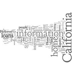 Home equity loan california vector