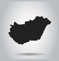 Hungary map black icon on white background vector