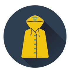 Icon of raincoat vector