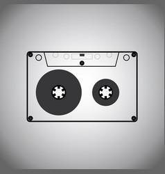 Image cassette black lines vector