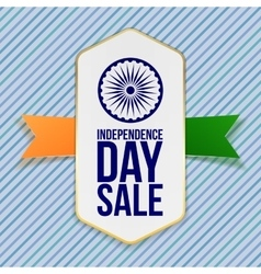 Independence Day Sale Badge with Ribbon vector