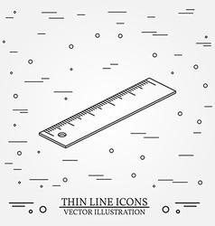 Isometric ruler on white backgroundFor web design vector image