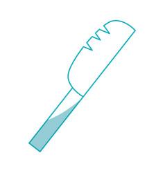 Knife cutlery utensil vector