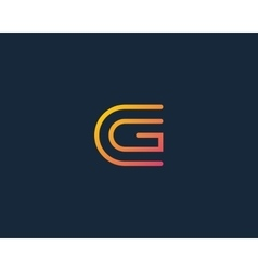 Line letter g logotype abstract moving airy logo vector