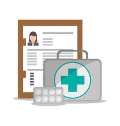 Medical kit and Health care design vector