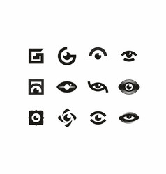 Modern professional sign logo icon eyes vector